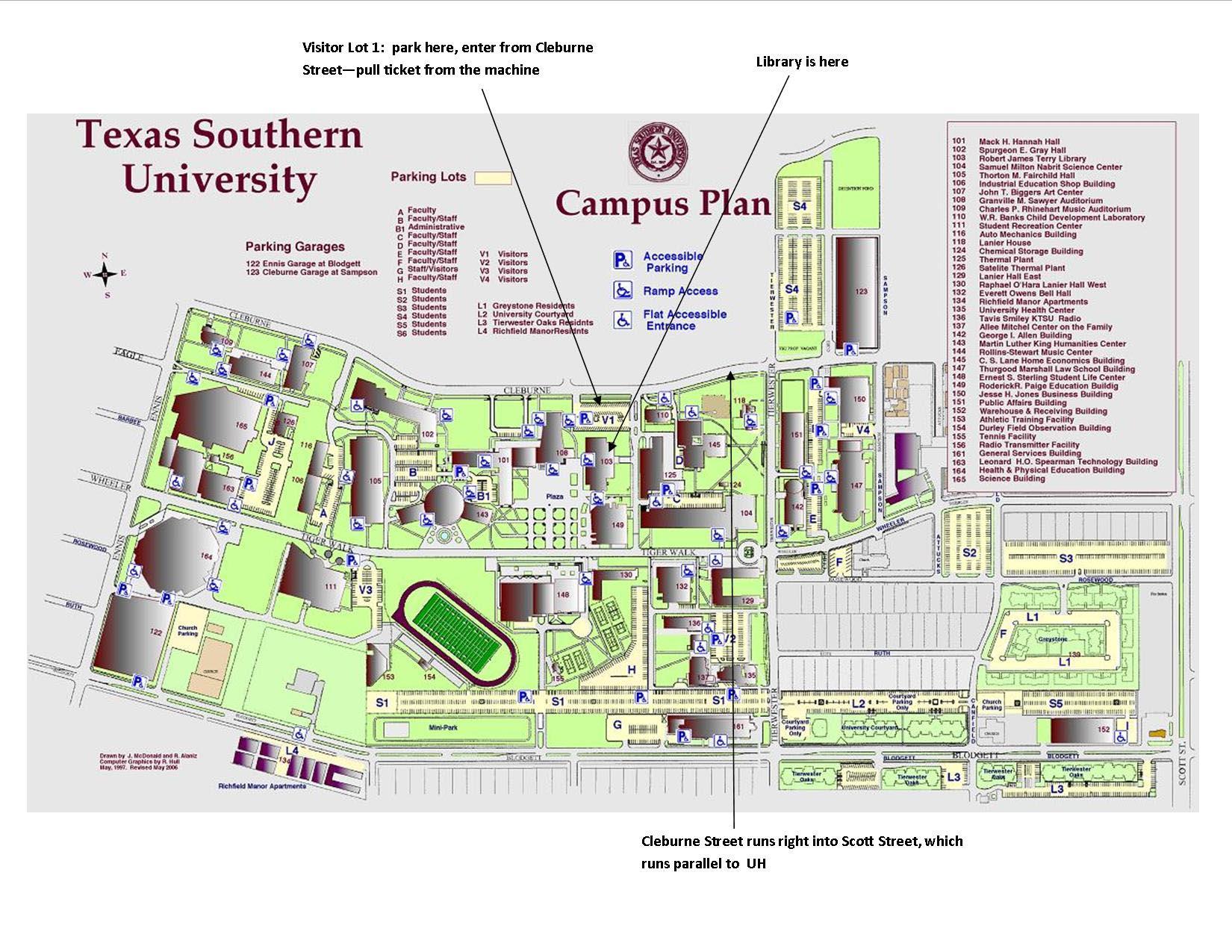TSU campus  map