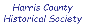 logo for Harris County Historical Society, Event Sponsor for the Houston Archives Bazaar 2017.