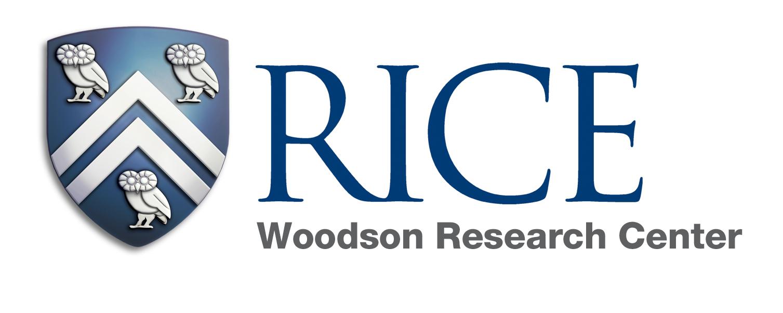 logo for Rice University Woodson Research Center. Event sponsor for the Houston Archives Bazaar 2017.